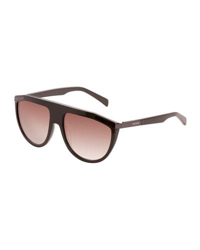 Flattop Plastic Aviator-Style Sunglasses