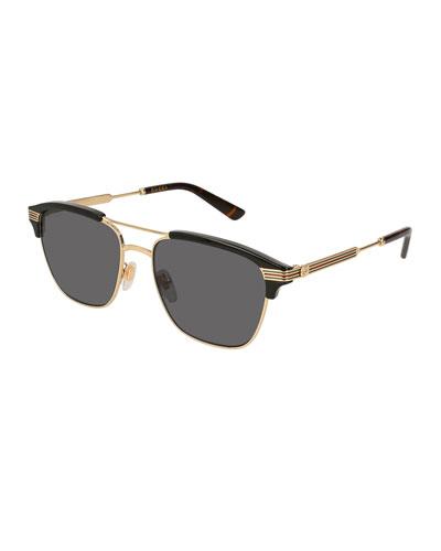 Gucci Aviator Mens Eyewear | bergdorfgoodman.com