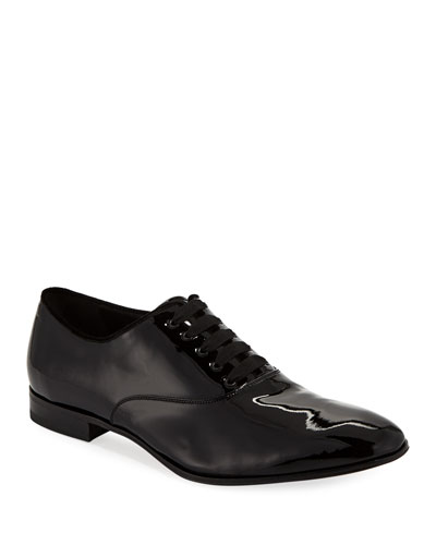 Men's Belshaw Patent Lace-Up Balmoral Dress Shoe