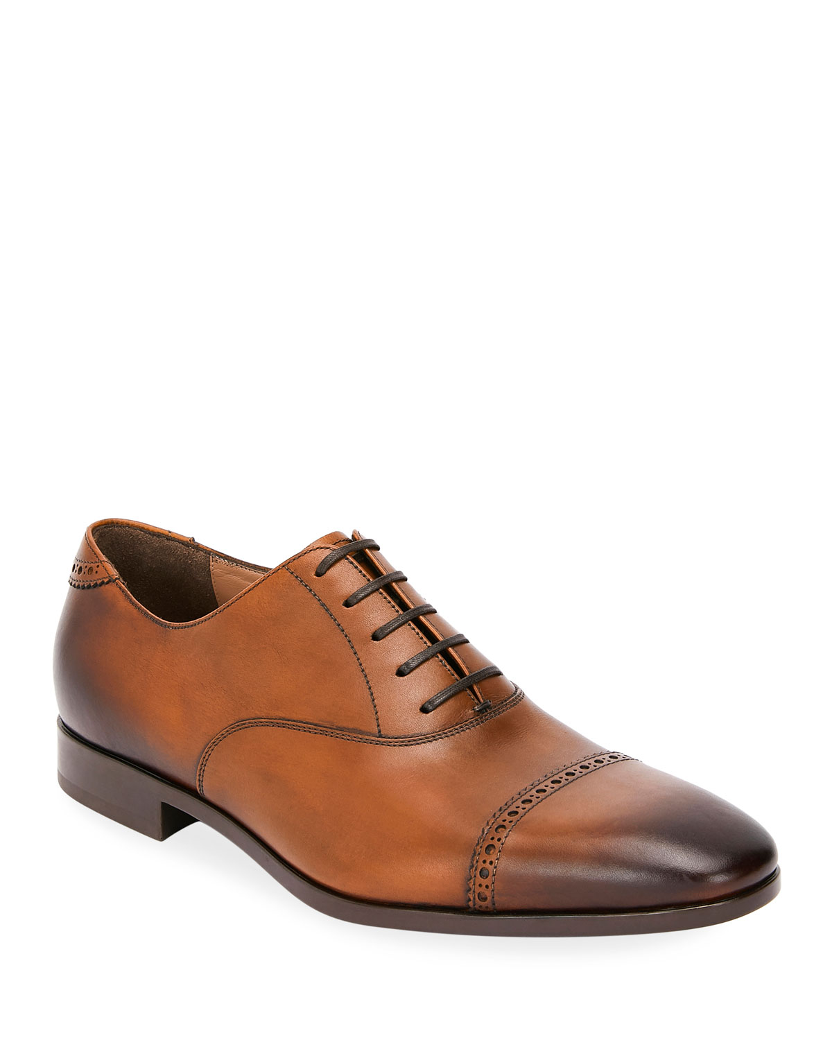 Men's Boston Leather Lace-Up Dress Oxford