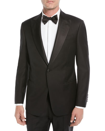 Men's Super 130s Wool Two-Piece Tuxedo Suit