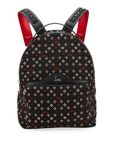 Men's Backloubi Jacquard Canvas Backpack
