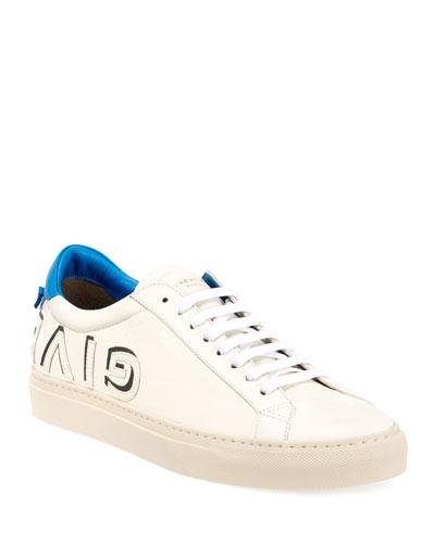 Men's Urban Street Low-Top Logo Letter Sneakers