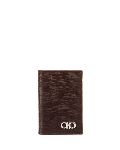 Men's Revival Bi-Fold Lizard-Embossed Leather Card Case