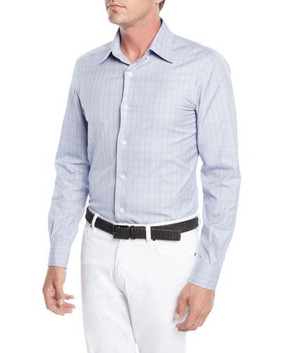 Men's Check Woven Sport Shirt