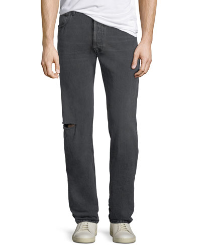 Men's Archetype Knee-Hole Straight-Leg Jeans