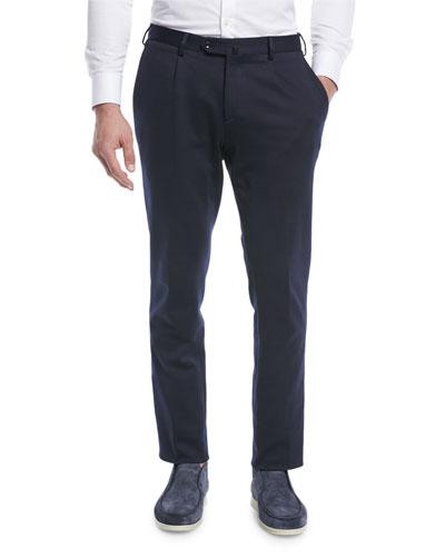 Men's Pleated Jersey Pants