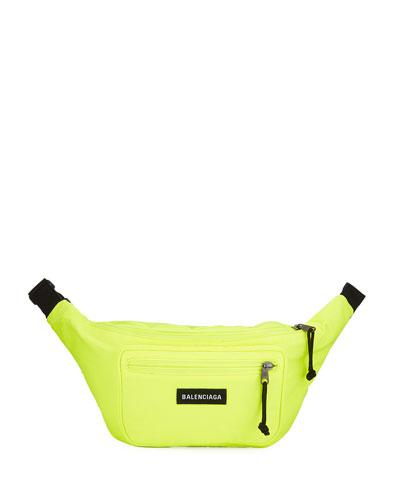 Men's Explorer Canvas Belt Bag, Yellow/Black