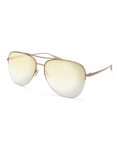 Men's Chevalier Mirrored Aviator Sunglasses