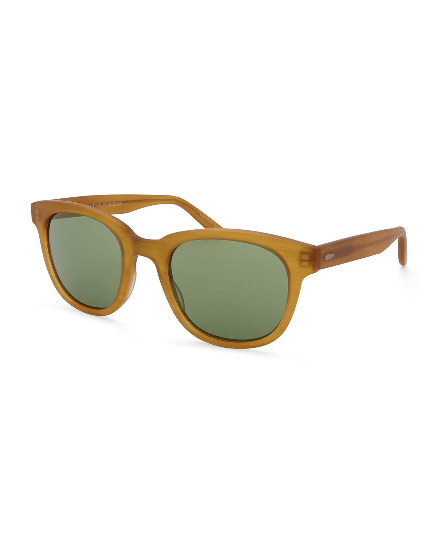 BARTON PERREIRA Men'S Thurston Plastic Square Sunglasses in Tan