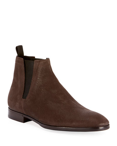 Men's Caractere Eclair Calf Suede Leather Boot