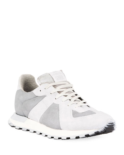 Men's Replica Runner Leather & Suede Sneakers