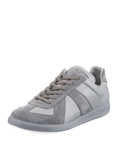 beef954306a Replica Men s Leather   Suede Low-Top Sneakers