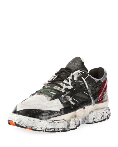 Men's Colorblock Fusion Leather Trainer Sneakers