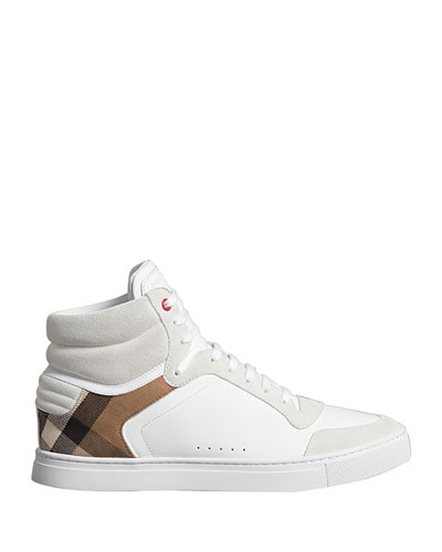 Men's Reeth High-Top Leather Sneakers