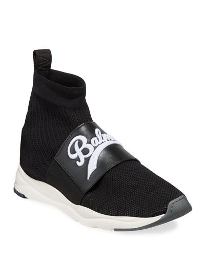 Men's Cameron Pull-On Logo Sock Running Sneakers