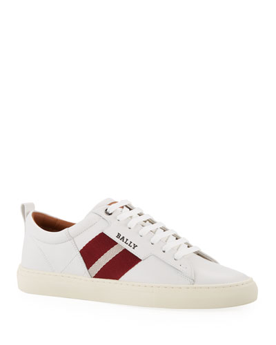 Men's Helvio Leather Low-Top Sneakers