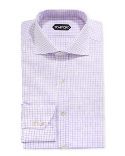Men's Tattersall Cotton Dress Shirt