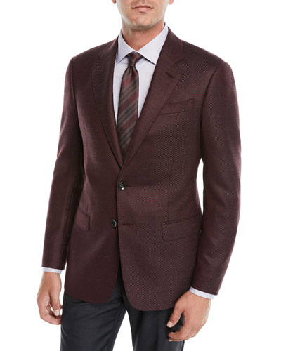 Men's Micro-Texture Wool Jacket