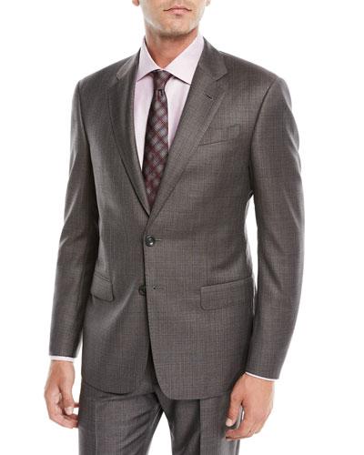 Men's Melange Two-Piece Wool Suit