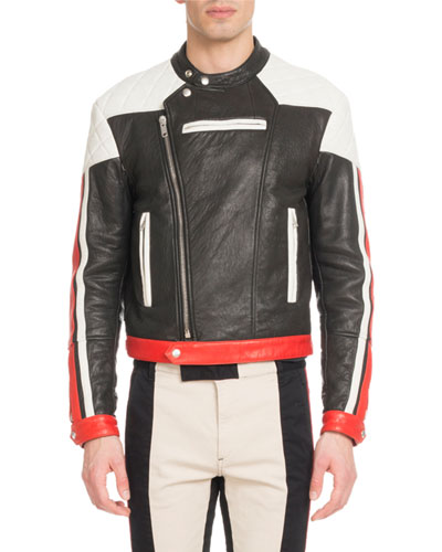 Men's Leather Motocross Jacket