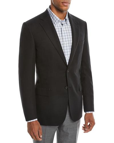Men's Two-Button Wool Twill Blazer