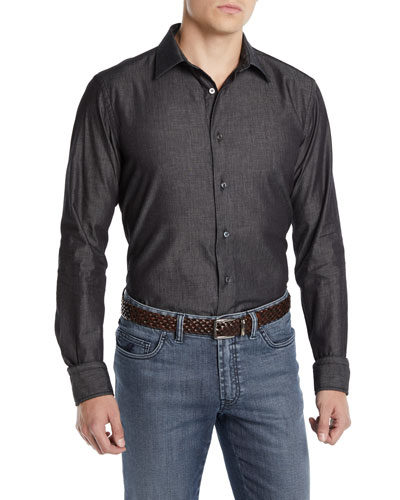Men's Washed Chambray Sport Shirt