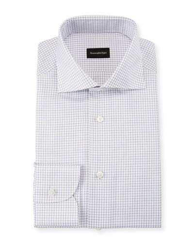 Men's Graph Check Dress Shirt, Purple