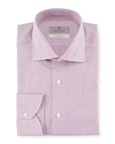 Men's Micro Stripe Cotton Dress Shirt