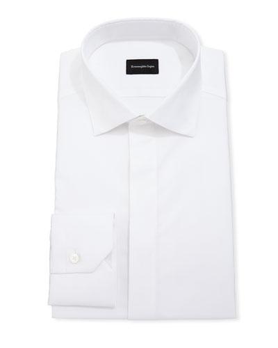 Men's Cotton/Silk Hidden-Button Formal Shirt
