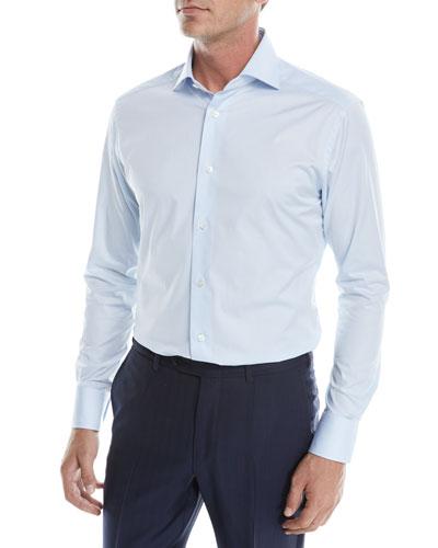 Men's Solid Twill Sport Shirt