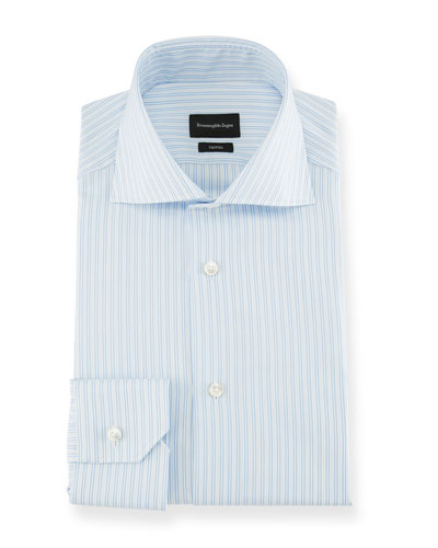 Men's Trofeo Two-Tone Stripe Dress Shirt