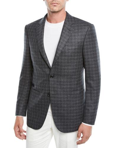 Men's Graph Check Two-Button Jacket