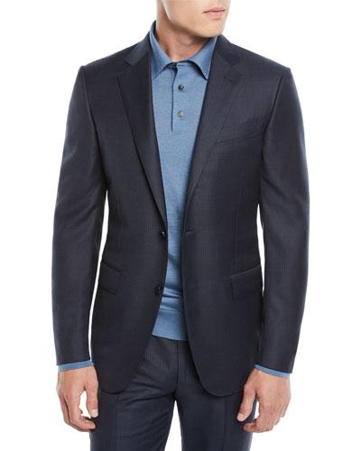 Men's Graph Check Two-Piece Wool Suit