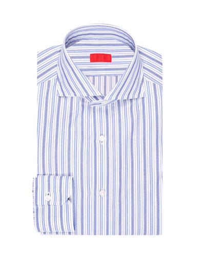 Multi-Stripe Cotton Dress Shirt