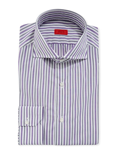 Men's Shadow-Striped Cotton Dress Shirt