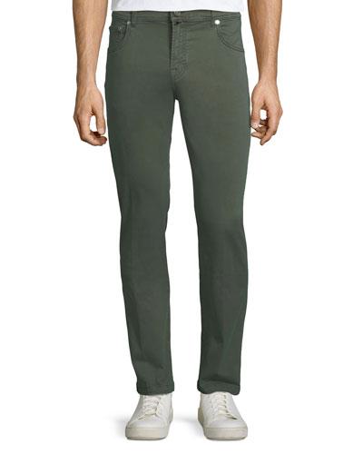 Men's Denim Five-Pocket Jeans, Green