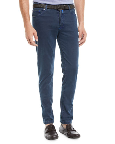 Men's Straight-Leg Pants w/ Contrast Stitching