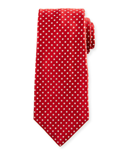 Medium-Dot Silk Tie