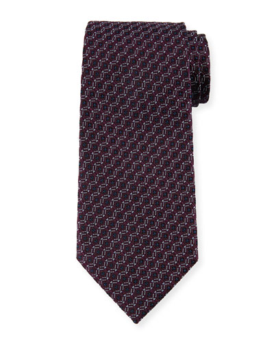 Ermenegildo Zegna Box-in-Circle Silk Tie, Purple