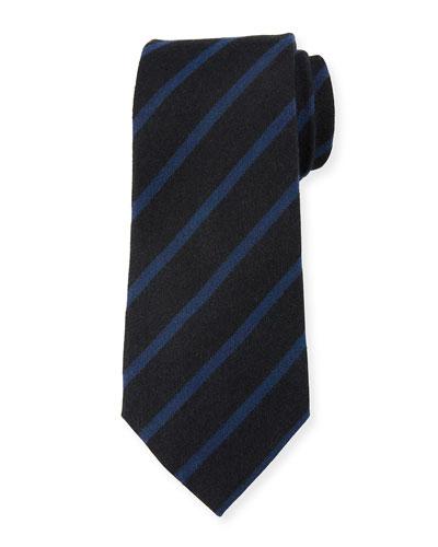 Ermenegildo Zegna Classic Stripe Silk Tie