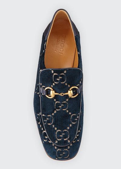 35689be78a5f Horsebit GG Velvet Loafer
