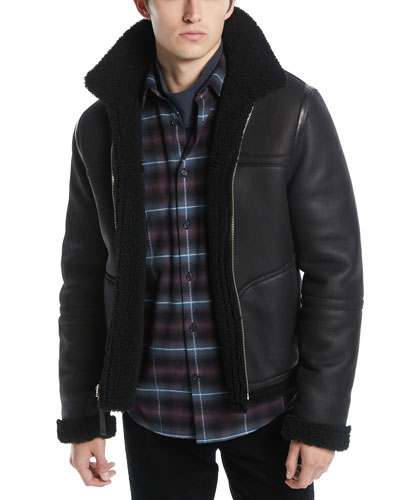 Men's Reversible Shearling Leather Jacket