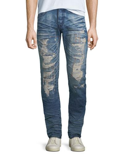 Men's Le Sabre Ripped Repair Jeans