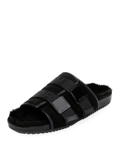 Men's Churchill Shearling-Lined Slide Sandals