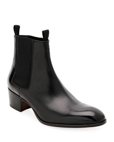 Men's Wilde Patent Chelsea Boots