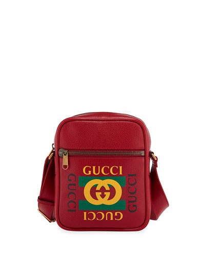Men's Retro Leather Crossbody Bag