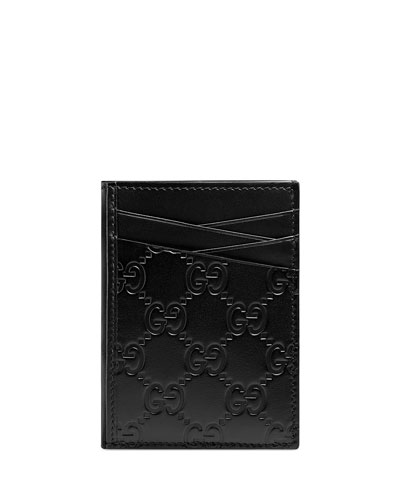 Men's GG Signature Leather Card Case