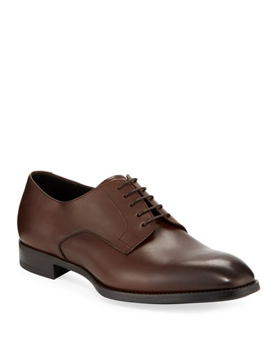 Men's Calf Leather Derby Shoes
