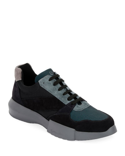 Men's Leather & Mesh Training Sneakers